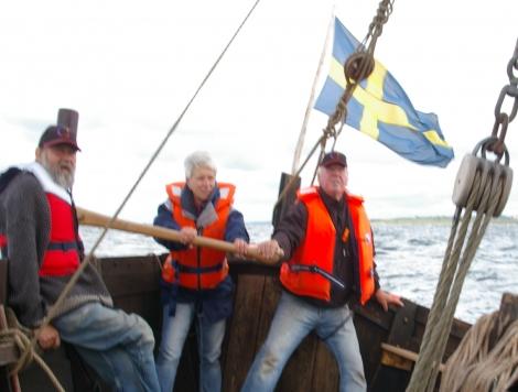 segling med Galtabäcksskeppet  utanför Varberg
